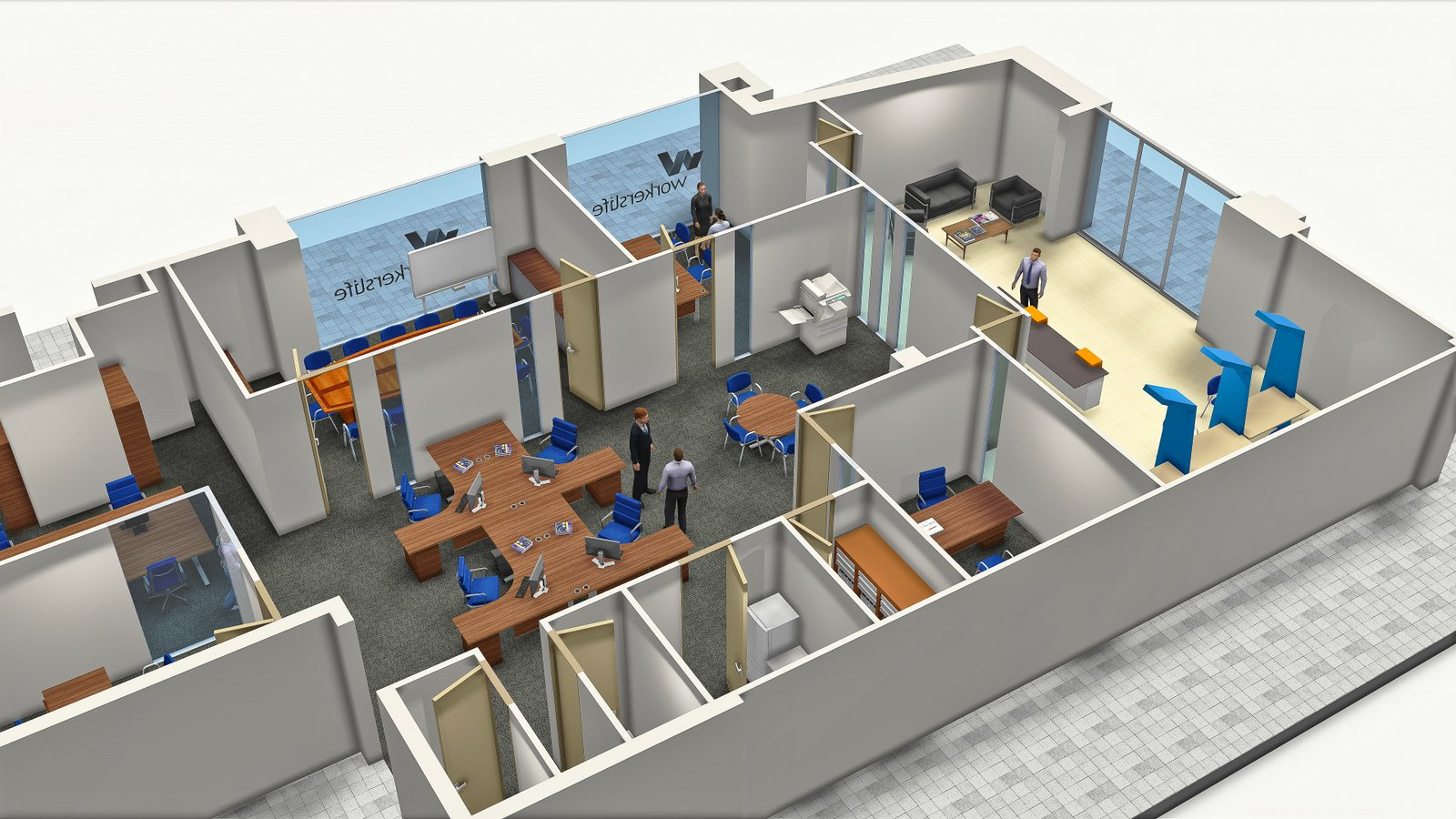 Office Top View   3D Models Architecture   Nelspruit and White River    Mpumalanga. 3D Modelling and Design   Infinity Focus