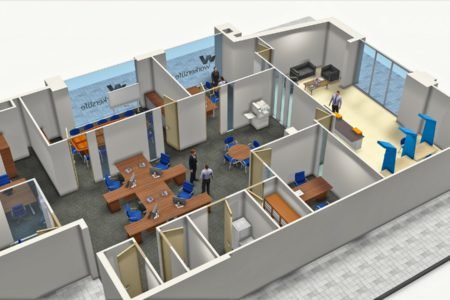 Office Top View - 3D Models Architecture - Nelspruit and White River - Mpumalanga