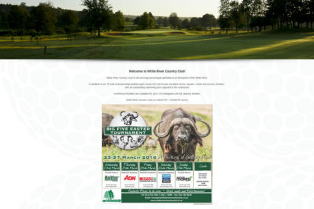 White River Country Club - Website Design - Nelspruit and White River - Mpumalanga
